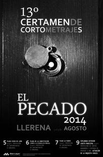 El XIII Certamen de Cortometrajes 'El Pecado 2014' celebrado en Llerena re�ne a unas 5.000 personas
