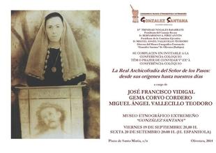 Una conferencia abordar� la historia de la Real Archicofrad�a del Se�or de los Pasos de Olivenza (Badajoz)