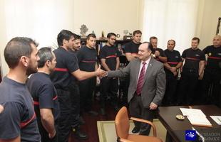 Valent�n Cort�s recibe al Grupo de Trabajo de Rescate en Accidentes de Tr�fico del Consorcio Provincial de Bomberos