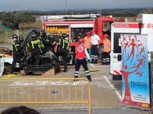 100 personas participan en un simulacro de emergencias sanitarias organizado por la Diputaci�n y la Cruz Roja en Herrera del Duque