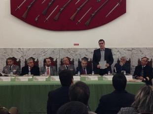 Cort�s asiste en Elvas a la presentaci�n de ''El Atlas Medici de Lorenzo Possi''