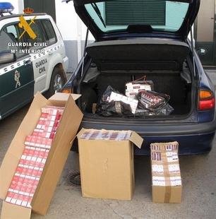 Intervecidas a la altura de Puebla de Sancho P�rez 2.000 cajetillas de tabaco de contrabando