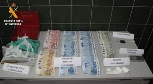 Hallados 58 gramos de coca�na en la casa de un joven en Zafra que hab�a robado presuntamente antes un bolso