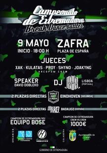 El IV Campeonato de Break Dance de Extremadura que se celebrar� en Zafra abre su plazo de inscripci�n