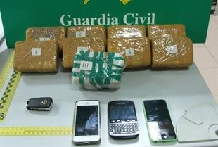 La Guardia Civil interviene cinco kilos de hero�na ocultos en un veh�culo en Puebla de Sancho P�rez