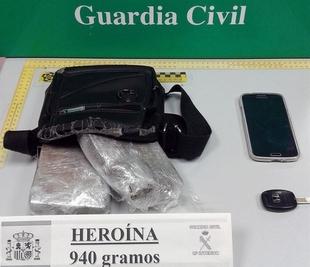 Detenido en Don Benito el conductor de un veh�culo tras intentar tirar por la ventanilla un kilo de hero�na
