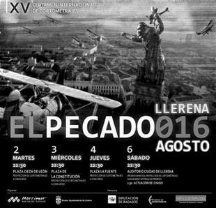 El Ayuntamiento de Llerena y la Asociaci�n M�rrimer convocan el Certamen Internacional de Cortometrajes El Pecado