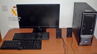 La Guardia Civil esclarece el robo de aparatos inform�ticos, imagen y sonido del colegio de Garbayuela