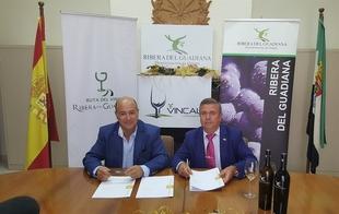 Un convenio de colaboraci�n entre la Diputaci�n y la D.O Ribera del Guadiana promocionar� dichos vinos