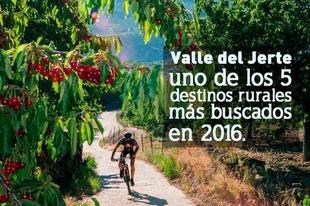 El Valle del Jerte (Cáceres), quinto destino rural más buscado de España en 2016