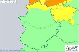 El norte de Cáceres, en aviso amarillo este sábado por lluvia