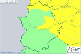 El norte y el este de Extremadura estarán en riesgo por viento y lluvias este domingo