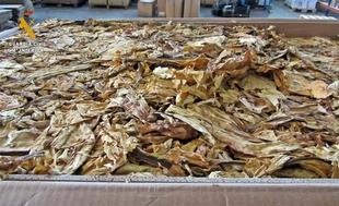 Intervenidos 1.260 kilos de tabaco de contrabando en la N-V a su paso por Talavera la Real