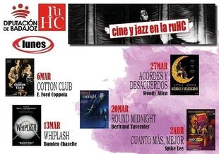 La Residencia Universitaria Hernán Cortés de Badajoz programa un nuevo ciclo de cine y jazz