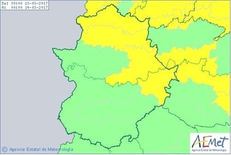 El 112 de Extremadura activa la alerta amarilla por vientos en el norte y este de la región