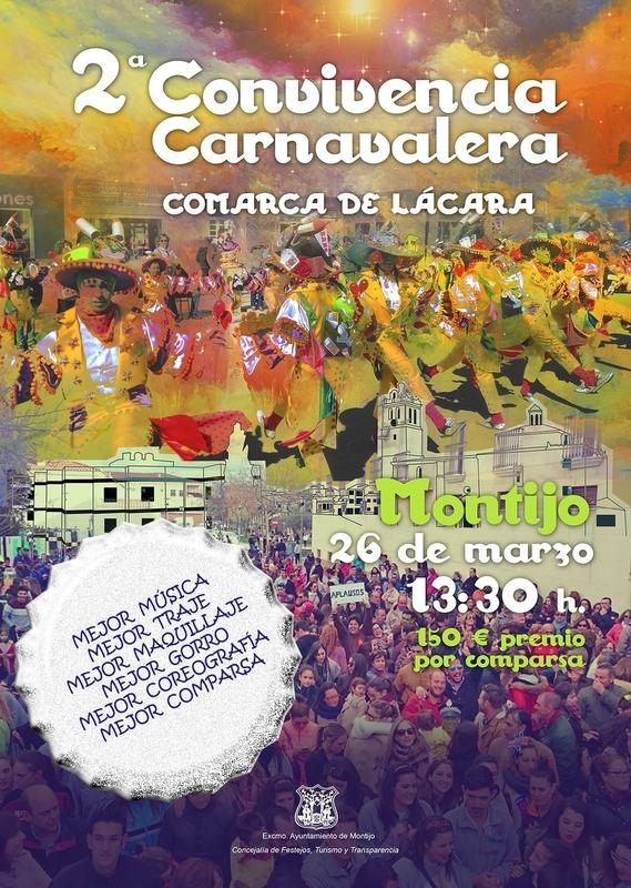 La II Convivencia Carnavalera 'Comarca de Lácara' se celebrará en Montijo el próximo día 26