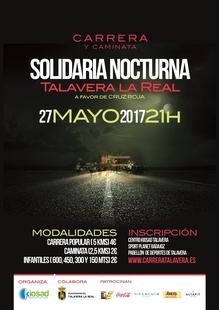 Una parte de la recaudación de la V Carrera y Caminata Nocturna de Talavera La Real será destinada a Cruz Roja