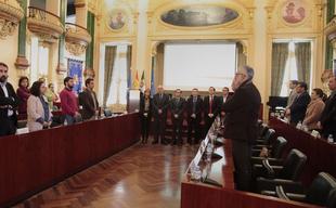 La Diputación de Badajoz guarda un minuto de silencio en memoria de las víctimas del atentado de Londres