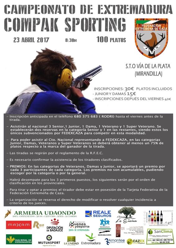 Mirandilla celebrará el próximo domingo el Campeonato de Extremadura de Compak Sporting