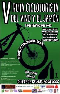 La V Ruta Cicloturista del Vino y el Jamón de Alburquerque tendrá lugar el próximo 7 de mayo