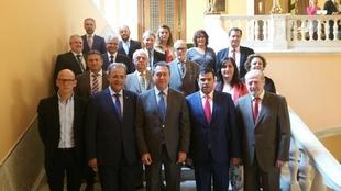 La Diputación de Badajoz asiste en Sevilla al acto de recuperación del Camino Colombino