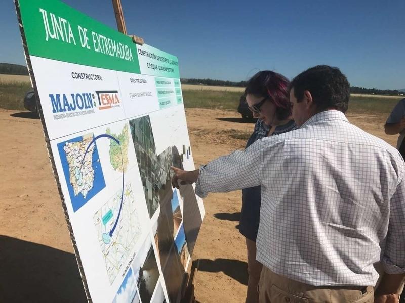 La Junta de Extremadura retoma la obra de construcción de un desagüe paralelo a la línea de ferrocarril en Guareña