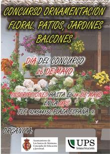 Un concurso premiará los patios, jardines y balcones con mejor ornamentación floral en Los Santos