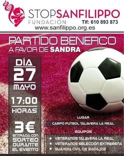 Talavera celebra este sábado un partido benéfico a favor de Sandra