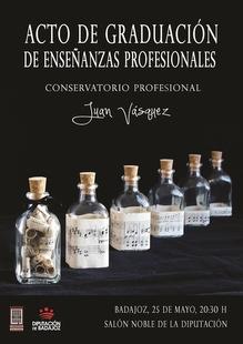 El Conservatorio Profesional 'Juan Vázquez' celebrará este jueves en la Diputación de Badajoz el acto de graduación
