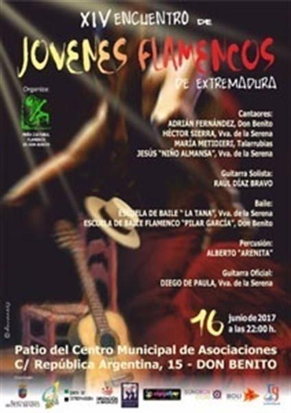 Cuatro cantaores participarán este viernes en Don Benito en el XIV Encuentro de Jóvenes Flamencos de Extremadura