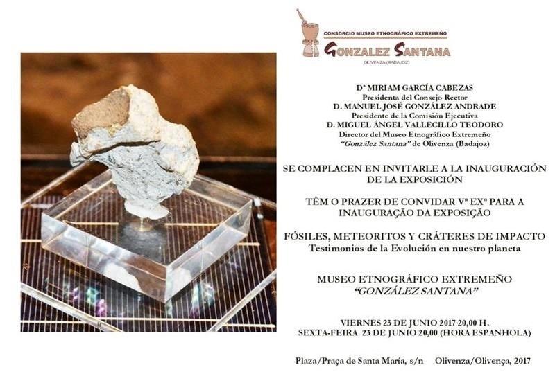 Una exposición muestra en Olivenza la evolución de la Tierra a través de fósiles, meteoritos y cráteres de impacto