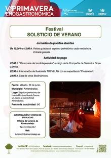 El sepulcro prehistórico de Huerta Montero en Almendralejo celebra este sábado el Festival del Solsticio de Verano