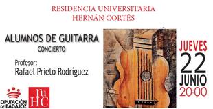 Recital de guitarra en la Residencia Universitaria Hernán Cortés