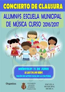 El curso de la Escuela Municipal de Música de Los Santos de Maimona se clausura este miércoles