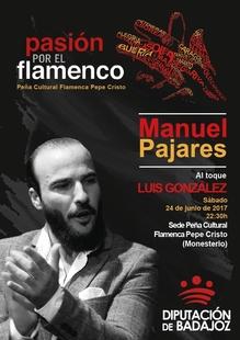 El programa 'Pasión por el flamenco' llega este sábado a Monesterio con Manuel Pajares y la guitarra de Luis González