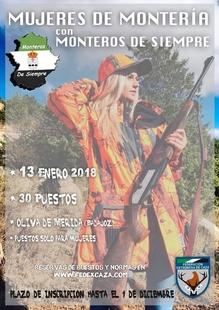 Organizan una montería para mujeres cazadoras en enero en Oliva de Mérida
