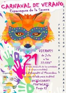 Esparragosa de la Serena celebrará este año por primera vez su 'Carnaval Zorrero' también en verano
