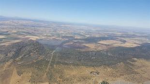 El Infoex declara extinguido el incendio de Arroyo de San Serván, que quema 458 hectáreas