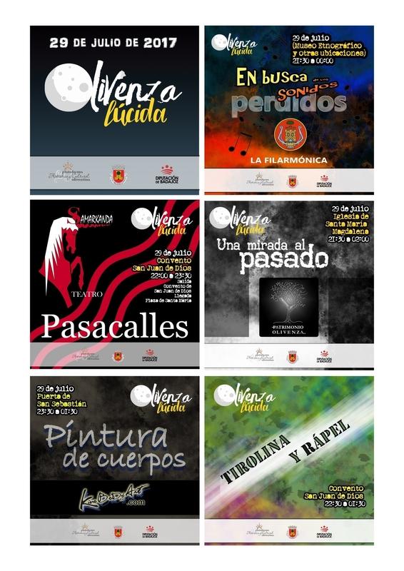 'Olivenza Lúcida' celebra su tercera edición en la noche del 29 al 30 de julio con actividades culturales y deportiva