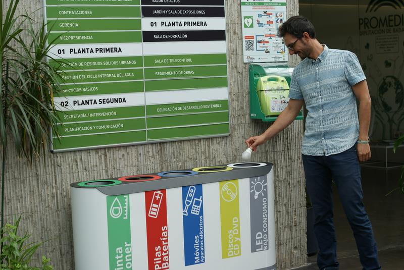 La Diputación de Badajoz habilita tres pequeños puntos limpios para residuos en sus instalaciones