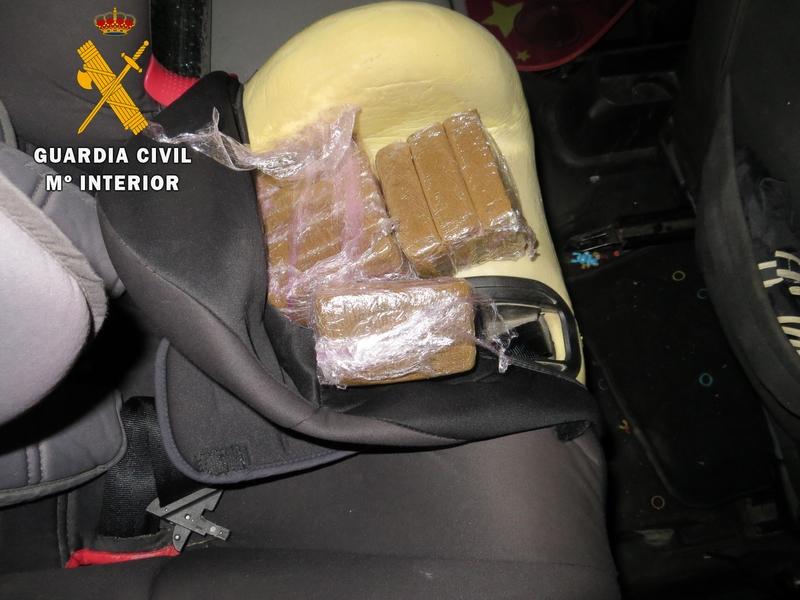 La Guardia Civil detiene a dos personas por tráfico de drogas en Monesterio