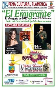 Don Benito celebrará este viernes su XIX Gran Festival Homenaje a 'El Emigrante'