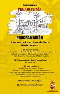 Herrera del Duque inaugura este jueves 10 de agosto su nueva  Plaza de España con concierto de Miguel Poveda