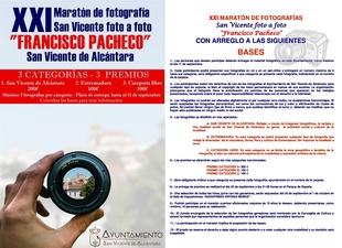 Abierto el plazo para participar en el Maratón Fotográfico 'Francisco Pacheco' de San Vicente de Alcántara