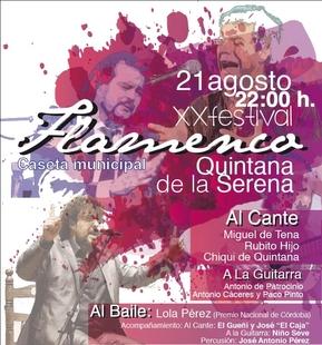 Quintana de la Serena celebra hoy su XX Festival Flamenco