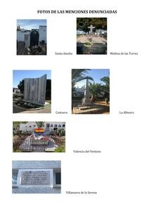 Guadiana del Caudillo presenta seis denuncias por símbolos que ''incumplen'' la Memoria Histórica en localidades pacenses
