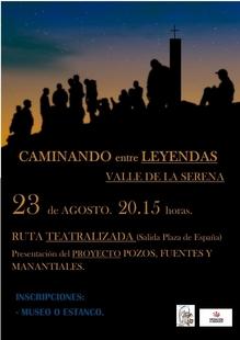 Los vecinos de Valle de la Serena realizarán una ruta teatralizada por las leyendas del pueblo