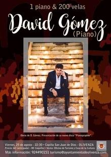 El pianista David Gómez actúa este viernes en Olivenza