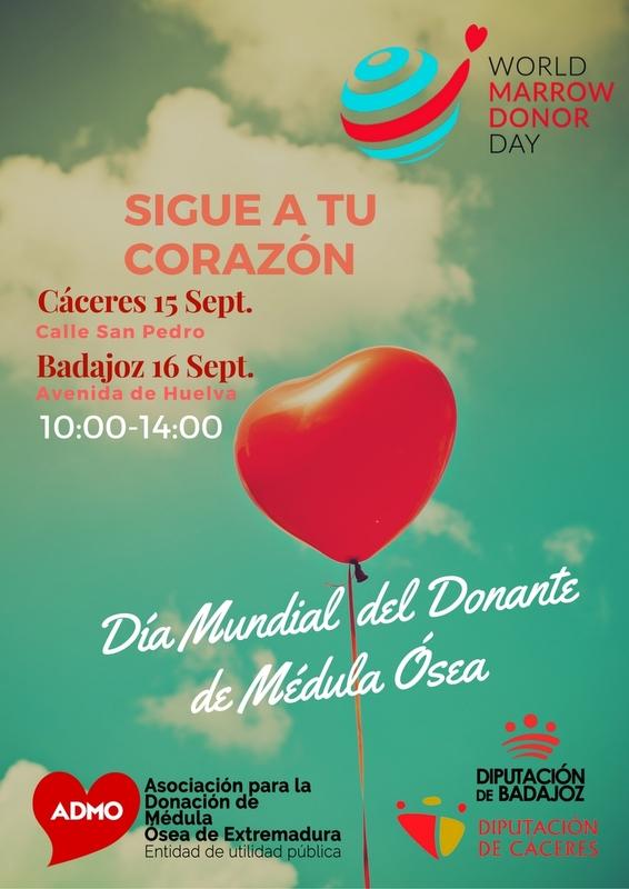 Conquistar los corazones de los extremeños en el Día Mundial del Donante de Médula Ósea