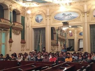 Un acto en el salón noble de la Diputación inauguró el nuevo curso en los conservatorios Profesional y Superior de Badajoz